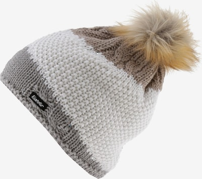 Eisbär Mütze 'Eden' in grau / greige / weiß, Produktansicht