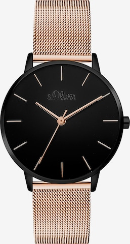 s.Oliver Analog Watch in Gold