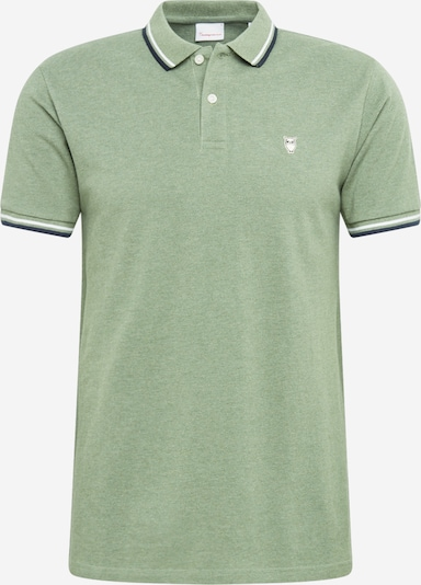 KnowledgeCotton Apparel Poloshirt 'Pique - OCS' in grün, Produktansicht