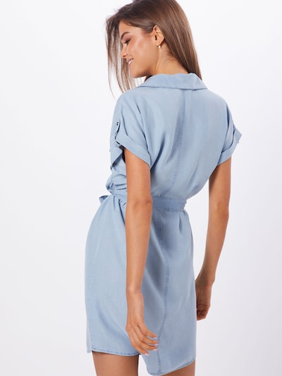 Noisy may Kleid 'NMVERA S/S ENDI' in blue denim: Rückansicht