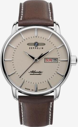 Zeppelin Uhr 'Atlantic Collection, 8466-5' in braun / silber / naturweiß, Produktansicht