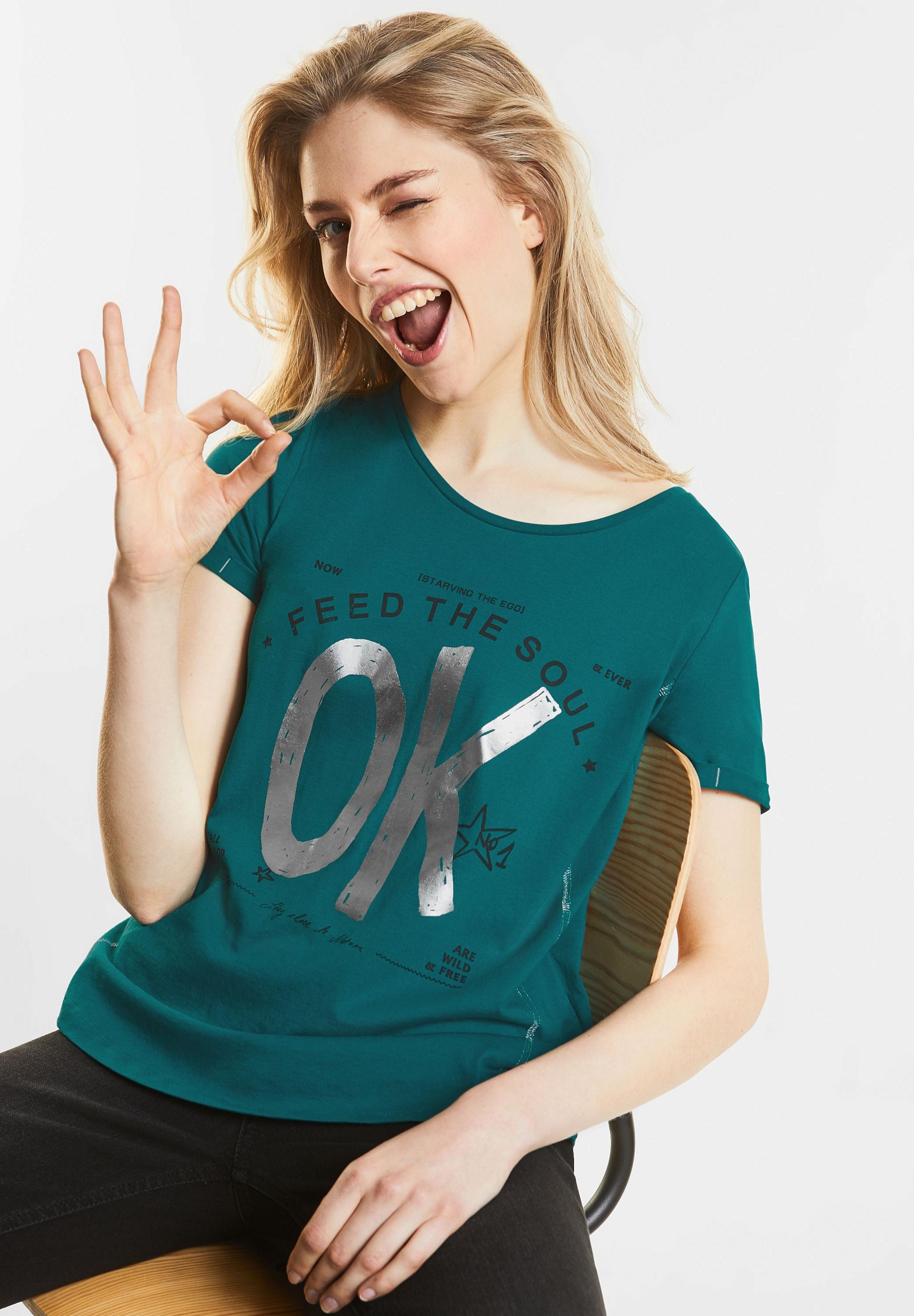STREET ONE Folien Print Shirt Spielraum Besuch Spielraum Größte Lieferant Verkauf Echten Rabatt Zahlung Mit Visa OqPerkW1ov