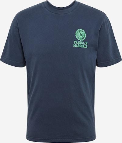 FRANKLIN & MARSHALL T-Shirt en bleu foncé / vert, Vue avec produit