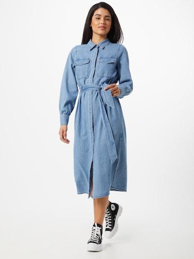 VERO MODA Jurk 'Teagan' in de kleur Blauw denim, Modelweergave