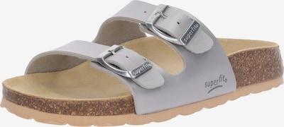 SUPERFIT Schuhe 'FUSSBETTPANTOFFEL' in silber, Produktansicht