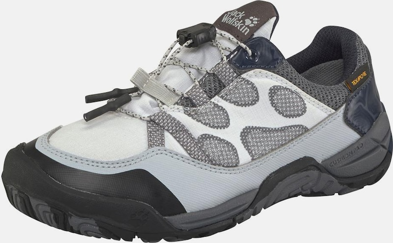 JACK WOLFSKIN Outdoorschuh 'Jungle Gym Texapore Low K' in hellgrau / schwarz / weiß, Produktansicht