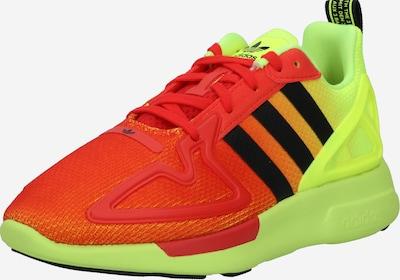 ADIDAS ORIGINALS Sneaker 'ZX 2K Flux' in neongelb / neongrün / neonorange / rot, Produktansicht