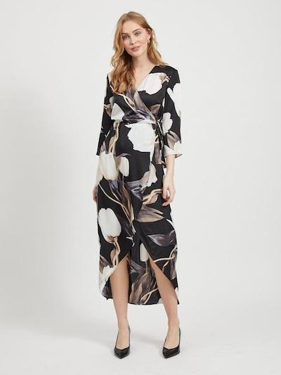 OBJECT Kleid in taupe / schwarz / weiß, Modelansicht