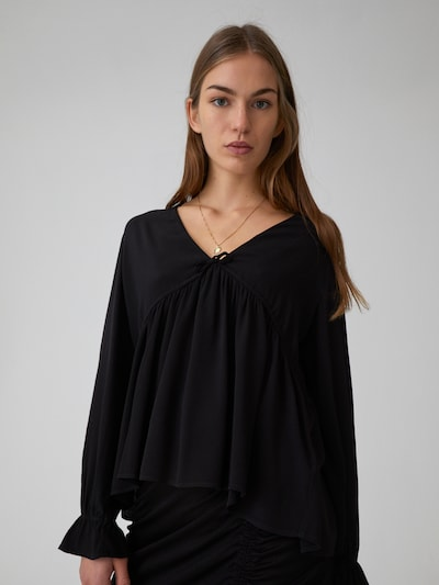 EDITED Blúzka 'Blanca' - čierna, Model/-ka
