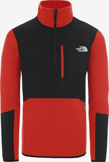THE NORTH FACE Pullover 'Glacier Pro' in rot / schwarz, Produktansicht