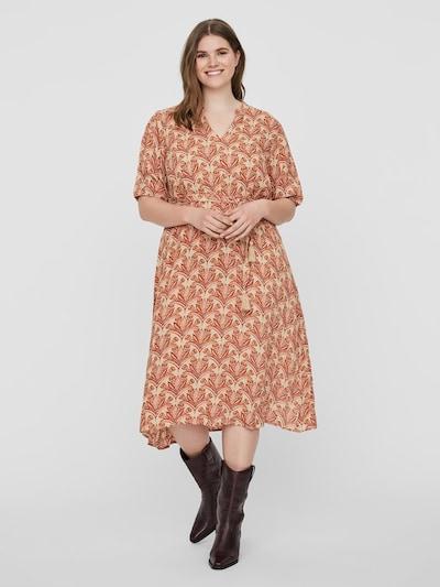 Junarose Kleid in beige / rosa, Modelansicht