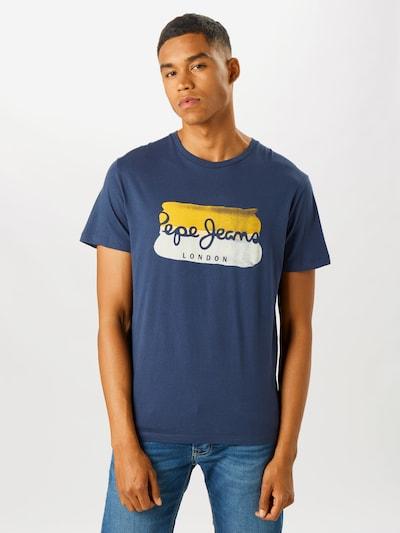 Pepe Jeans T-Shirt 'Milburn' en bleu marine / jaune / blanc: Vue de face