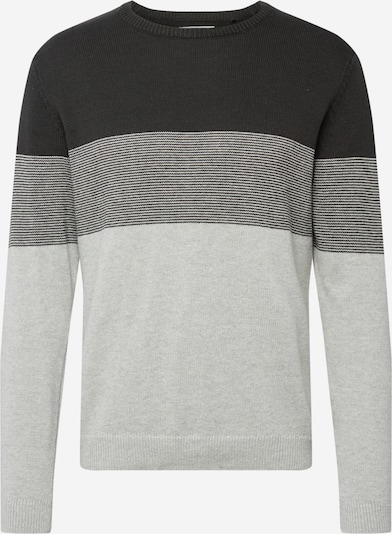 Only & Sons Pullover 'ONSHILBERT' in graphit / hellgrau / graumeliert: Frontalansicht