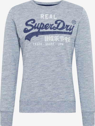 Superdry Sweat-shirt en marine / gris chiné / blanc, Vue avec produit
