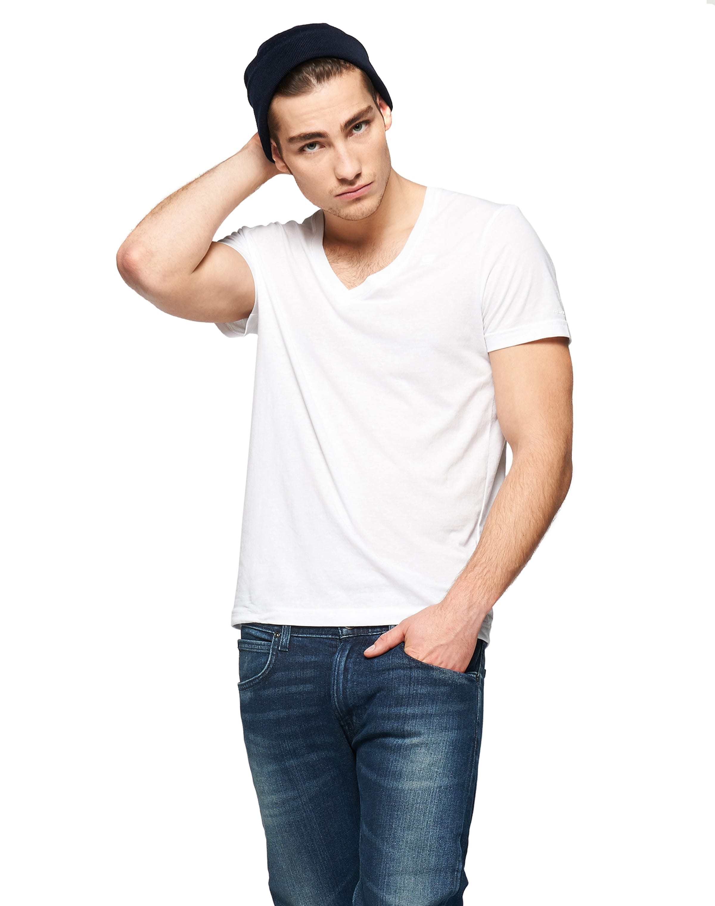 Rabatt Günstig Online Rabatt Kaufen G-STAR RAW T-Shirt im 2er-Pack mit V-Ausschnitt 'Base HTR V T S/S' tiSeJrv