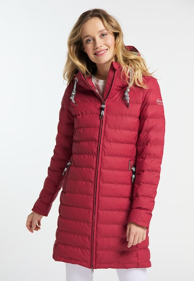 Schmuddelwedda Mantel in rot, Modelansicht