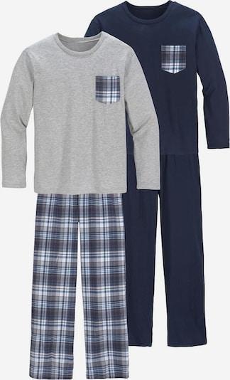 LE JOGGER Pyjamas, lang in marine / graumeliert, Produktansicht