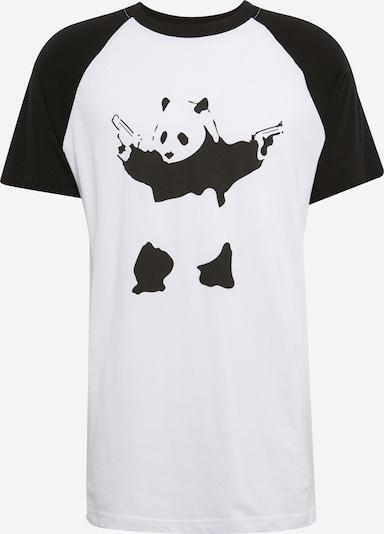 Mister Tee T-Shirt 'Banksy Panda' in schwarz / weiß, Produktansicht