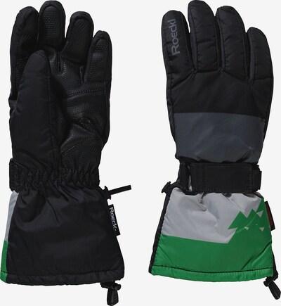 Roeckl SPORTS Handschuhe 'Arglberg' in basaltgrau / hellgrau / grün / schwarz, Produktansicht