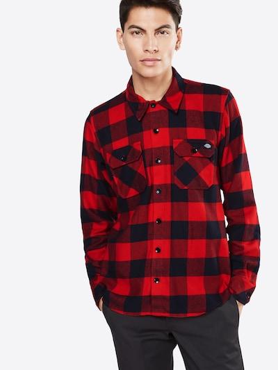 DICKIES Košeľa 'Sacramento' - červená / čierna: Pohľad spredu