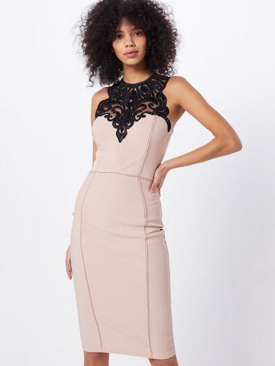 Lipsy Kleid 'WS ARTWRK BODYCON' in beige / schwarz, Modelansicht