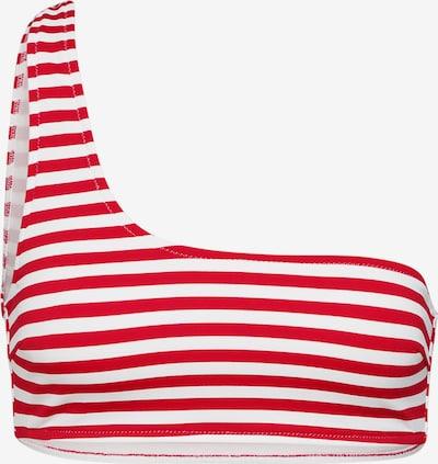 EDITED Bikinitop 'Midori' in rot / weiß, Produktansicht