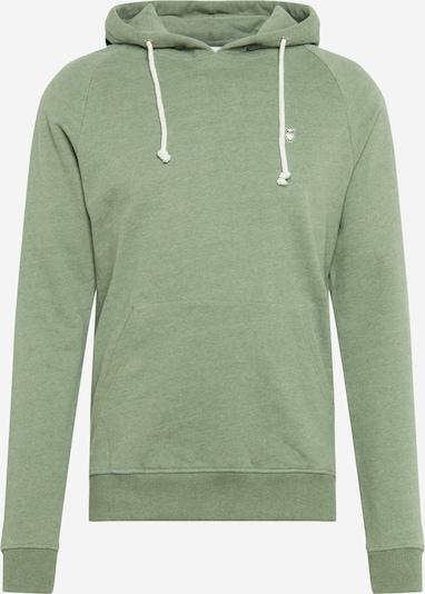 KnowledgeCotton Apparel Sweatshirt 'Hood kangaroo sweat with owl badge ' in grün, Produktansicht