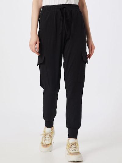 Pantaloni cu buzunare 'Linda' Kaffe pe negru, Vizualizare model