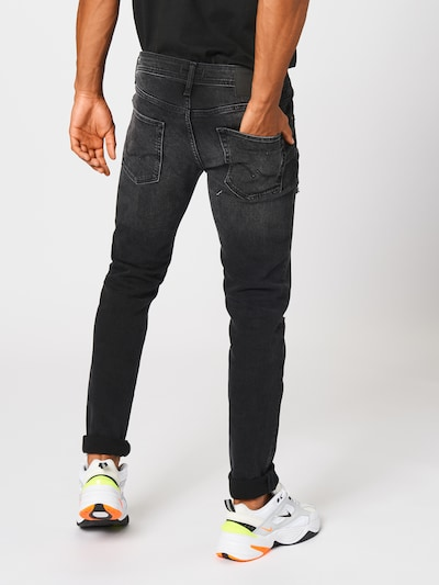 JACK & JONES Jeans 'IGLENN' in de kleur Black denim: Achteraanzicht