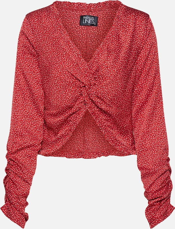 Parallel Lines Shirt in rot, Produktansicht