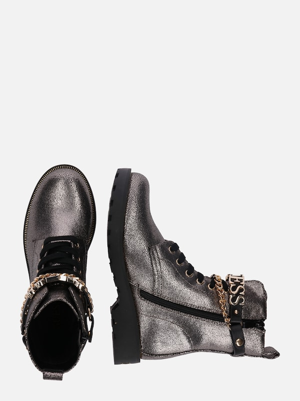 GUESS Leder Boots 'NINA' in silber   ABOUT YOU