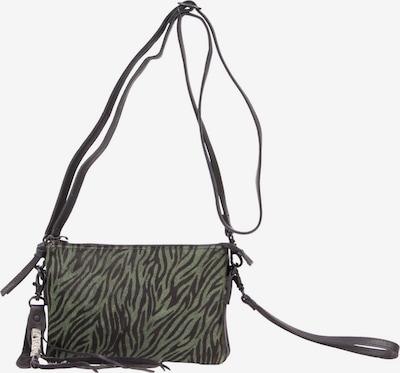 LEGEND Handtasche in dunkelbraun / grün: Frontalansicht