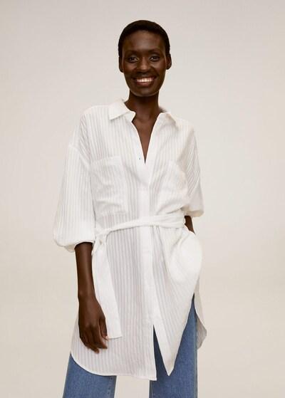 MANGO Bluse 'Longui' in weißmeliert, Modelansicht