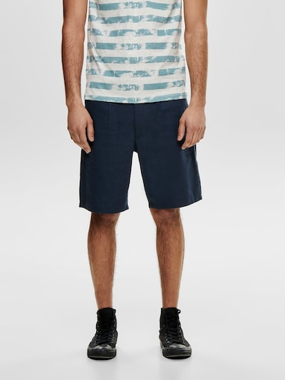 Only & Sons Shorts in marine, Modelansicht