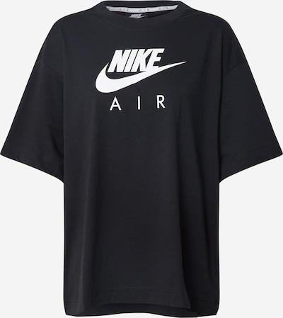 Tricou 'W NSW AIR TOP SS BF' Nike Sportswear pe negru / alb, Vizualizare produs