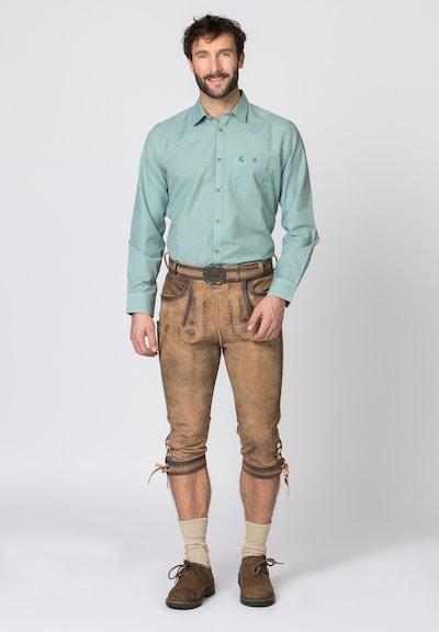 STOCKERPOINT Dirndl hlače 'Johann' u smeđa: Prednji pogled