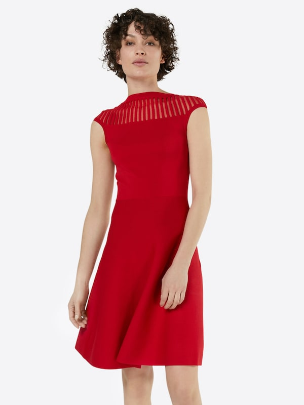 french connection kleid 39 rose crepe knit 39 in rot about you. Black Bedroom Furniture Sets. Home Design Ideas