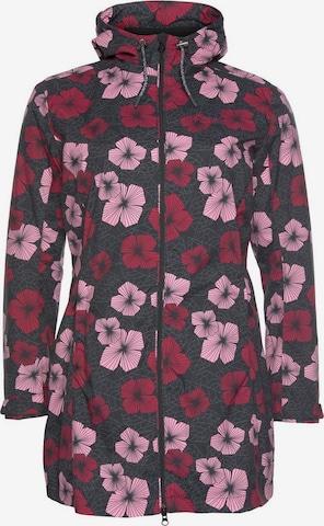 Maier Sports Outdoor Jacket 'Flowercoat' in Pink