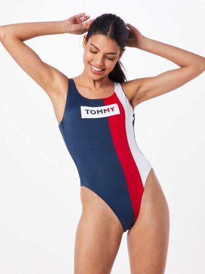 Tommy Hilfiger Underwear Badeanzug 'ONE PIECE' in navy / rot, Modelansicht