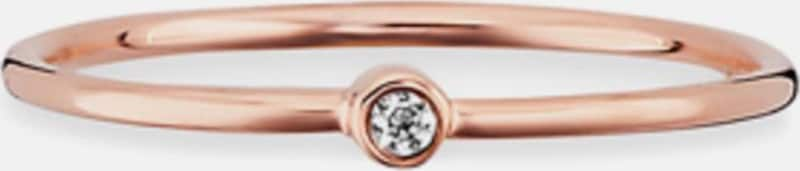 caï Fingerring 'Love, Together Forever, C7308R/90/03' in rosegold / weiß, Produktansicht