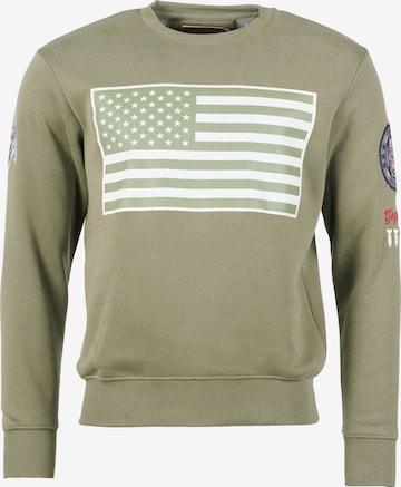 TOP GUN Sweater ' TG-9018 ' in Grün