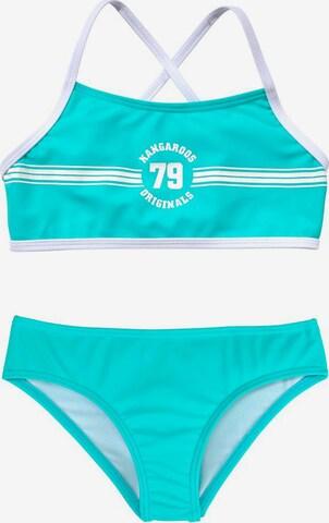 KangaROOS Bikini 'Sporty' in Blau