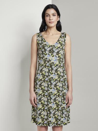 TOM TAILOR Kleid in khaki / mischfarben, Modelansicht