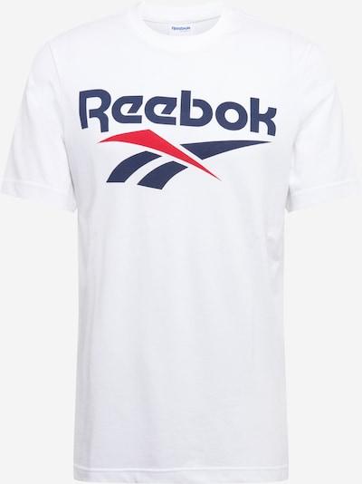 Reebok Classic T-Shirt in dunkelblau / rot / weiß, Produktansicht