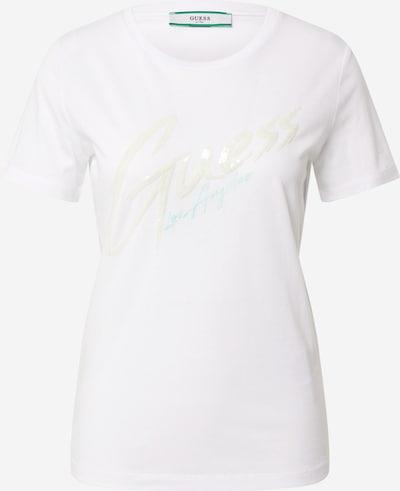 Marškinėliai 'GENNY' iš GUESS , spalva - kremo / turkio spalva / balta, Prekių apžvalga