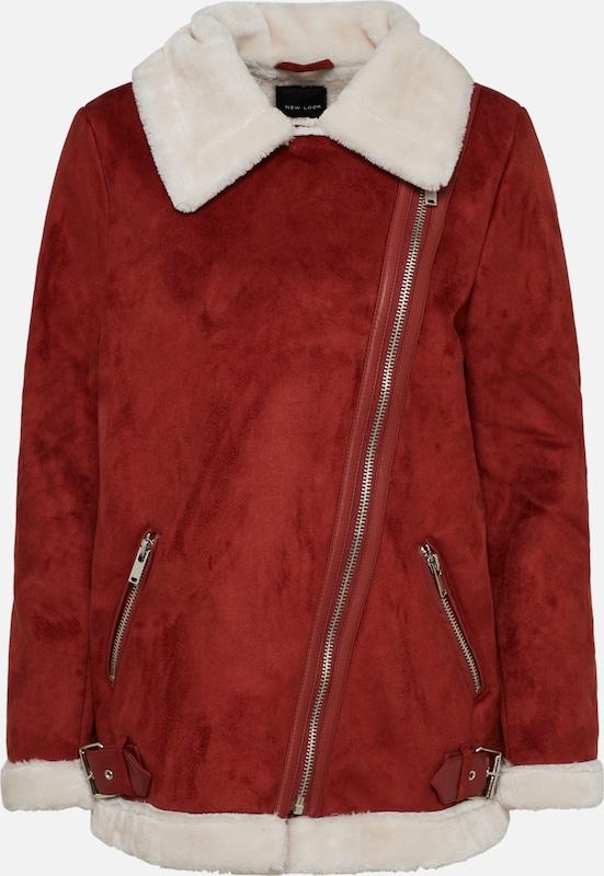 Look Veste D'hiver Rouge Lined En New 'fur Aviator' 54j3RLA