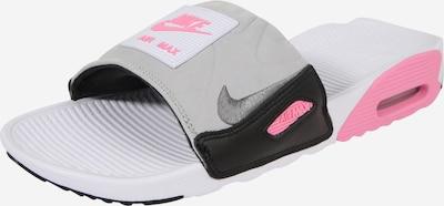 Nike Sportswear Mule 'NIKE AIR MAX 90 SLIDE' en gris / rose / blanc, Vue avec produit