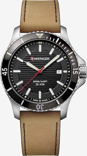 WENGER Montre à affichage analogique 'Seaforce' en noisette / noir / argent, Vue avec produit