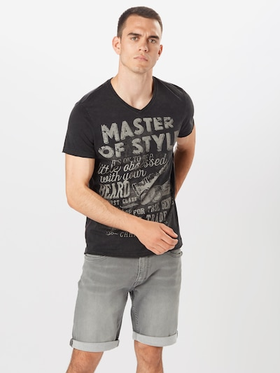 CAMP DAVID T-Shirt en gris clair / noir: Vue de face
