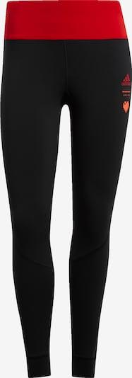 ADIDAS PERFORMANCE Pantalon de sport en rouge / noir, Vue avec produit